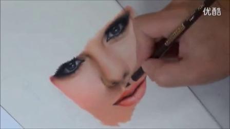 国外画家彩铅手绘泰勒斯威夫特