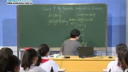 初一英语《Unit 9 My favorite subject is science.(Section A)》杭州市钱塘外国语学校【袁航】(初中英语名师公开课)