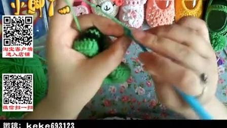 【小脚丫】(双色船形宝宝鞋2)婴儿毛线鞋宝宝毛线编织鞋毛线编织教程_高清