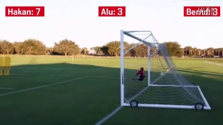 Hakan Calhanoglu shows his remarkable free-kick accuracy in a Leverkusen drill v