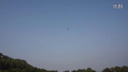 三桨1300rpm负载11kg真机伴飞