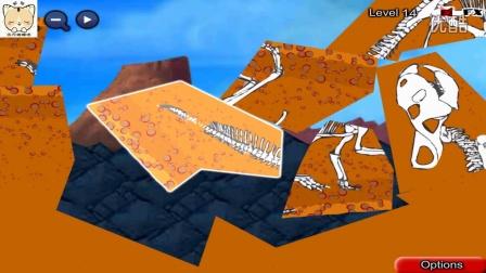 【托马斯和他的朋友们】给托马斯小火车铺路过隧道12-14恐龙化石,4399小游戏!
