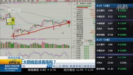 股市聊聊吧20160104_大阴线后该立场吗?
