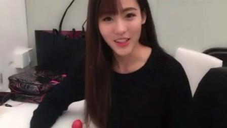 SNH48孙芮160109:@SNH48-袁雨桢 生日快乐! 虽然没法参加你的生日公演,但是在大南京给你做了个水果蛋糕 等我回去给你过哦~
