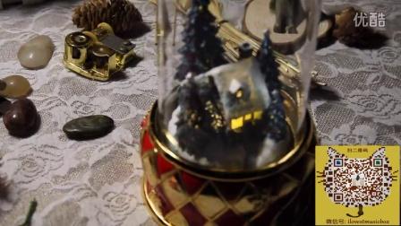 玻璃雪屋圣诞树旋转八音盒音乐盒 创意生日礼物 送男女朋友 多曲连播
