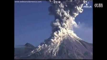 搞笑实拍,火山爆发瞬间火山灰直冲云霄,好似原子弹爆炸。