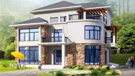 农村别墅设计施工图 三层别墅设计效果图 自建房私家别墅设计
