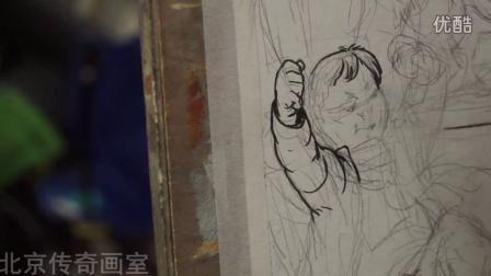 160110设计班陈陶老师场景速写默画《奶奶的生日》