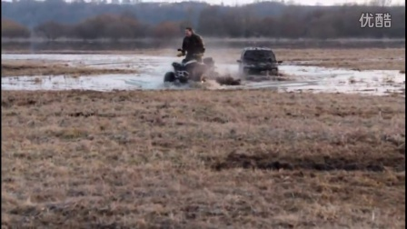 4x4 Off-road Funny Action in Mud ATV Pulling Car