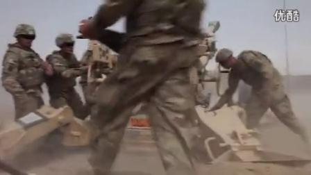 近距离看米国M777 155毫米榴弹炮实弹发射