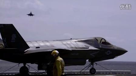 近距离观看美帝掌握核心科技 F35垂直起降实录!