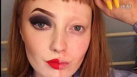 """英国女孩晒神奇化妆对比照 遭网友恶意吐槽""""患有癌症和脱发"""""""