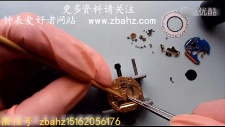 钟表维修视频 瑞士E955112 石英机芯安装