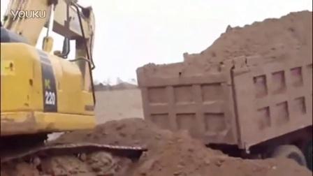 挖掘机视频表演 挖掘机装载视频培训驾驶操作表演挖土机培训