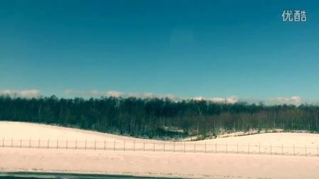 北海道机场起飞后俯瞰白雪皑皑的机场