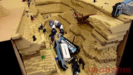 [乐高火车合集 撞车系列]Lego train - Maersk and the canyon StRambert 2011