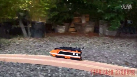 [乐高火车合集 撞车系列]Super fast Lego train crashes on a curb