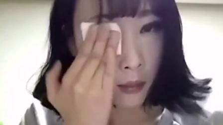 韩国MM的卸妆过程让你领教化妆的神奇@全球教程榜