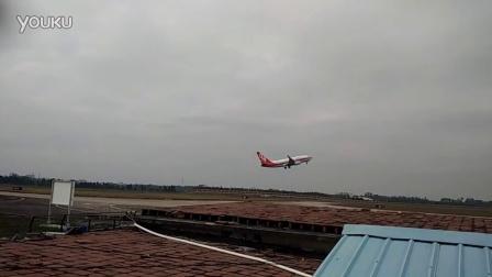 湛江机场ZGZJ中国联航737-700起飞