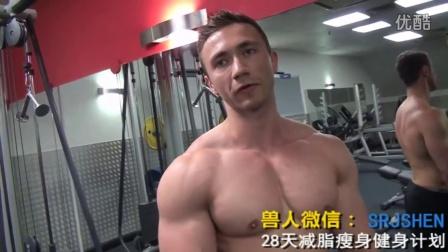 快速锻炼腹肌的方法图解摔跤肌肉男肌肉训练