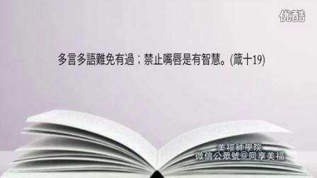 灵修朗诵《圣经智慧书•箴言书•87 多言多语》