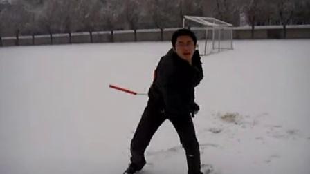 2010.年學校。零下二十多度。正在下雪