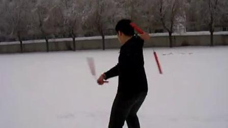 2010年。學校。零下二十多度。正在下雪
