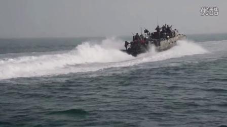 US Navy Patrol Boat in Action in the Persian-Arabic Gulf, Near Iranian Territori