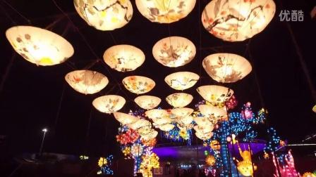 航拍上海元宵灯会-豫园灯会-世博魔灯嘉年华