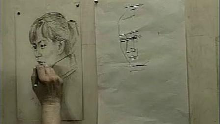 女青年人物头像画法