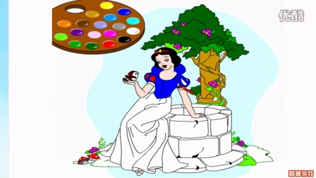 白雪公主动画片中文国语版 白雪公主填色 白雪公主和七个小矮人 神秘爸爸