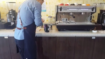 麦麦啡语  咖啡制作咖啡拉花韩式拉花咖啡师制作拿铁卡布奇诺