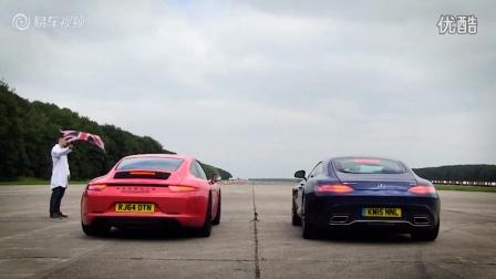 保时捷911 直线加速迎战奔驰AMG GT S