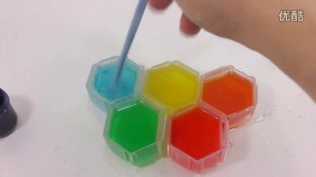 如何制作彩虹色蜂巢布丁果冻配方食玩