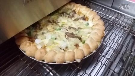 粒粒芝心披萨出炉视频