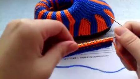 [珍珍毛线编织]第40集 毛线编织树叶棉鞋拖鞋视频上集.零基础_高清