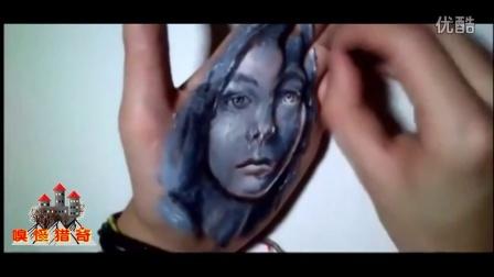 {嗅君葩闻}第一季 142 胆小慎入!法国艺术家在手上绘出魔幻3D图