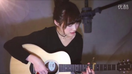 性感美女唱 斑馬斑馬吉他自拍写真