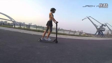 JACK HOT极轻碳纤维电动滑板车