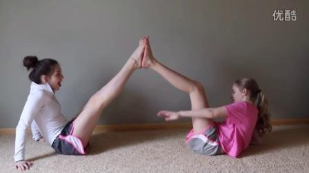 Epic Partner Yoga Challenge! SevenPerfectAngels