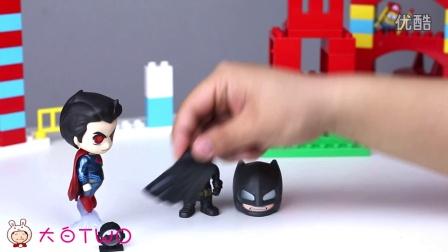 Q版蝙蝠侠超人 Hottoys 公仔 人偶 开箱 试玩