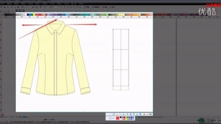 女衬衣绘制服装设计款式图服装色彩搭配服装手绘服装制版