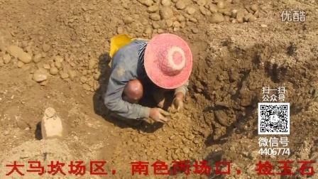 缅甸场口捡玉石的少年