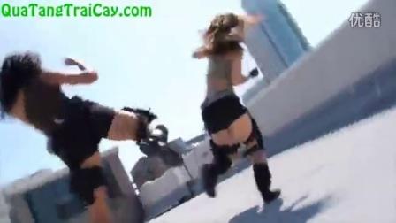 2 nữ sinh đánh nhau cực pro - xem như thật