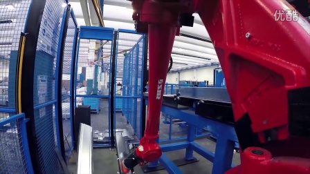 Robotics line 16 - 2015 Spot Welding and Handling Comau Robots in Tray Productio