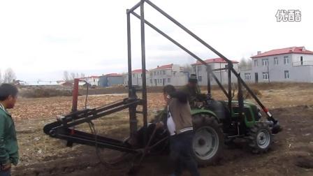 依安县油炸杆挖坑机东北挖坑机广电挖坑机苗月304耕王安装2米挖坑机