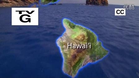 鸟瞰美国 俯瞰美国 夏威夷群岛 Aerial_America_720P_HI