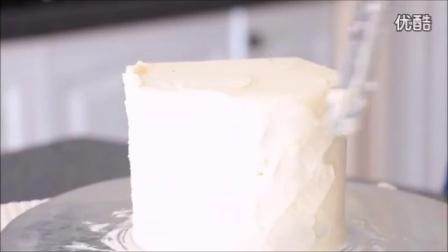 创意翻糖蛋糕 双层喷绘彩虹蛋糕制作教程_高清