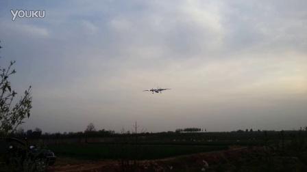 幸福航空MA60客机降落咸阳机场