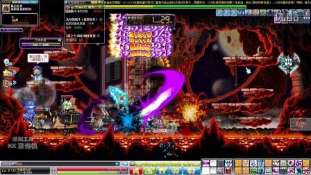 (小3很卡)冒险岛V132恶魔复仇者进阶扎昆 绝版boss最后一次打